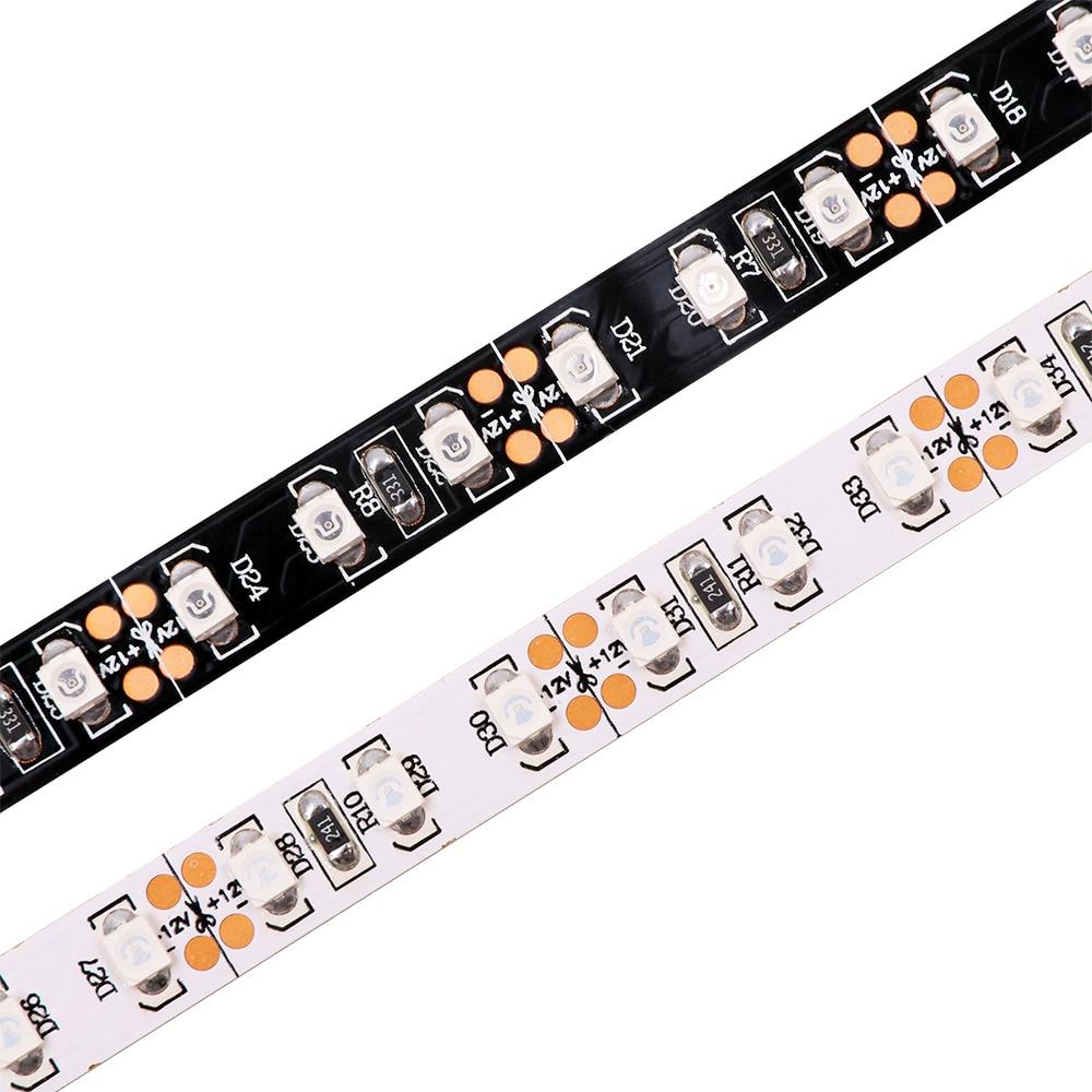 Tira de luces Led UV de 5M 12V 5050 3528 SMD 395nm ultravioleta púrpura 300/600 tira de luz LED Flexible impermeable IP33/IP65