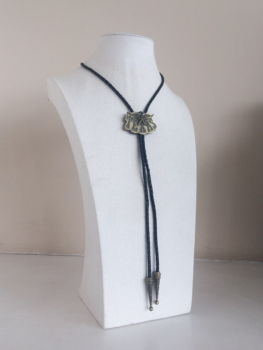 Retail New Vintage Bronze Plated Long Horn Bull Star Western Wedding Bolo Tie Leather Necklace Free Shipping BOLOTIE-WT026AB