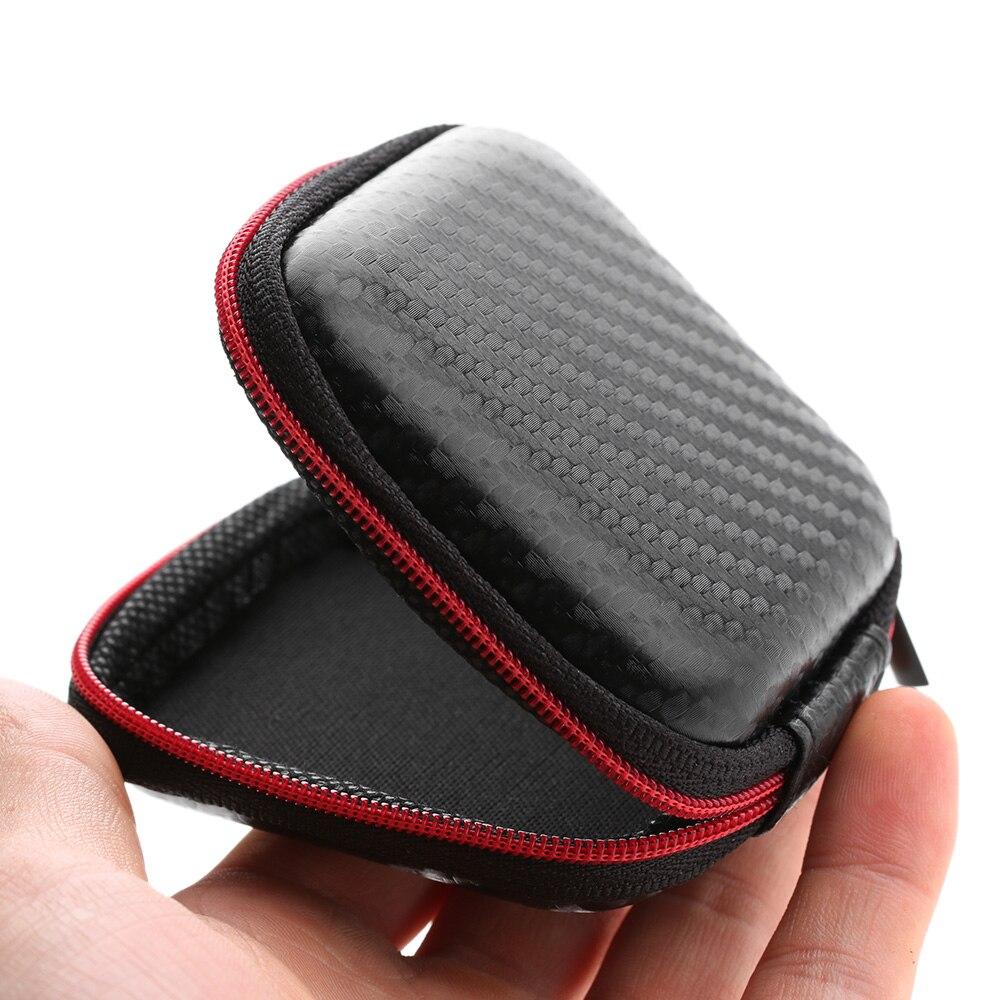 Nueva oferta de 2018, bolsa de almacenamiento portátil impermeable para auriculares, bolsa para auriculares, estuche rígido con cremallera, minibolsa de viaje a la moda