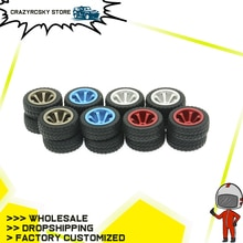 Rcawd 4 pçs roda de rali aro de liga para rc modelo carro 1/28 wltoys k969 k989 p929 deriva rally bigfoot kyosho mini-z mini-q k989-53