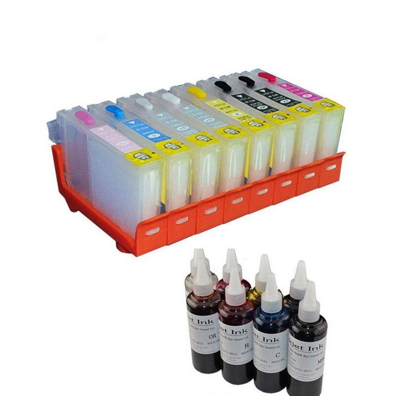 Cartucho de tinta recargable de repuesto CLI-42 CLI 42 CLI42 compatible con impresora canon pixma pro 100