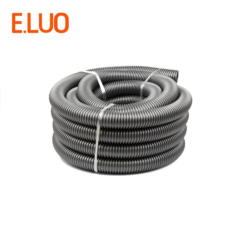 Manguera EVA Flexible de alta temperatura gris de 1m de diámetro interno de 50mm para aspiradora, equipo de suministro de drenaje/marrine