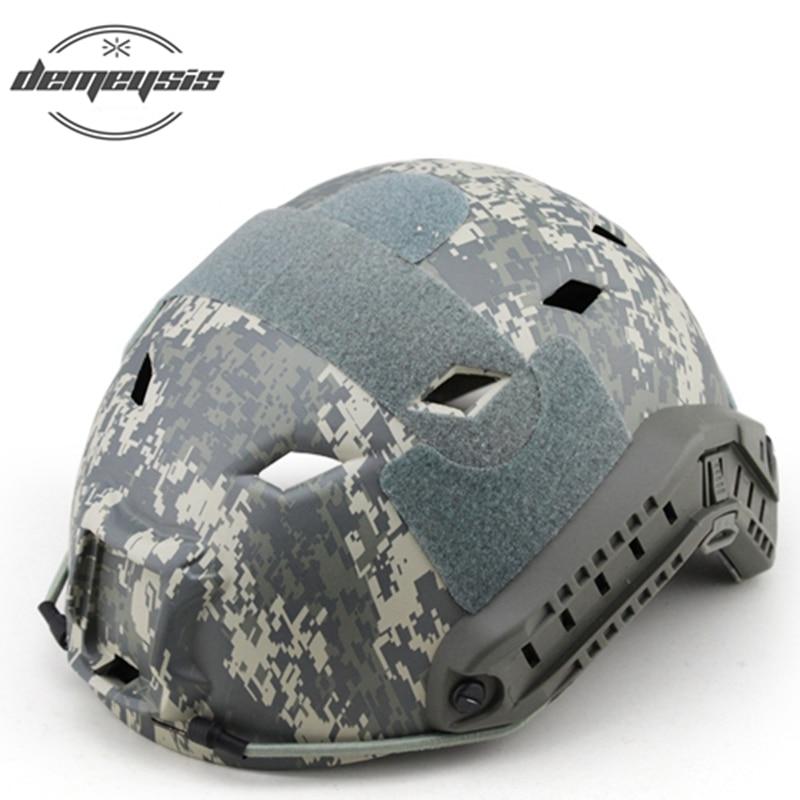 De alta calidad del ejército casco Airsoft Paintball disparo protección táctico militar casco ajustable CS contra los cascos