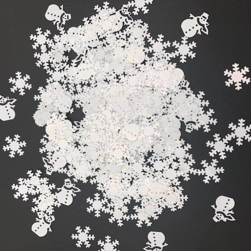 Снежинка снеговик/15 граммов блёстки ПВХ плоские для DIY карты изготовление