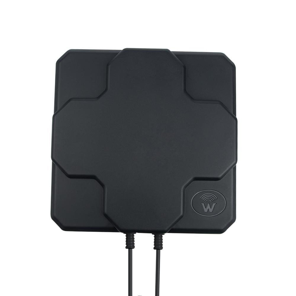 2*22dBi outdoor 4G LTE MIMO antenna,LTE dual polarization panel antenna SAM -Male connector