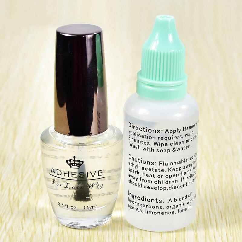 Оптовая цена, 1 бутылка, 0,5 унций, клей для париков на шнуровке и 1 бутылка, 1 унция, высококачественный клей для удаления волос