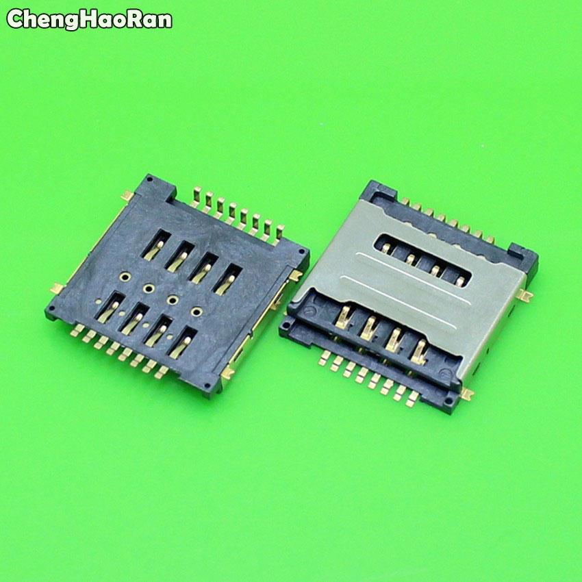 ChengHaoRan 1-10 шт двойной 8P SIM кард-ридер разъем Замена для Huawei Y320 G7300 T00 Y325 y518 g600 g7300