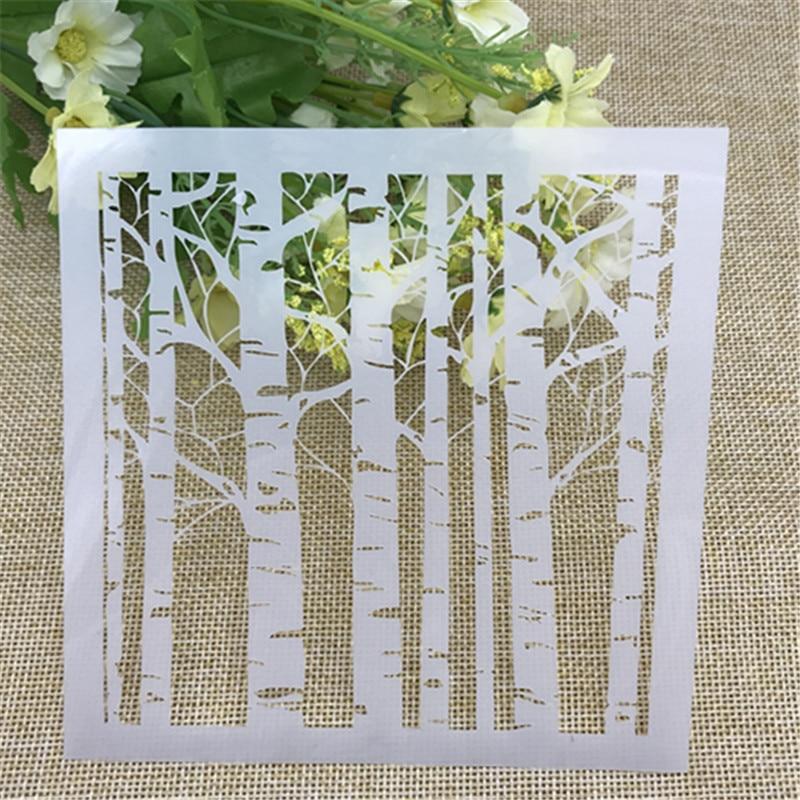 1 Folha de Camadas de vidoeiro Branco Stencils para Scrapbooking DIY/álbum de fotos Decorativo Embossing DIY Cartões de Papel Artesanato