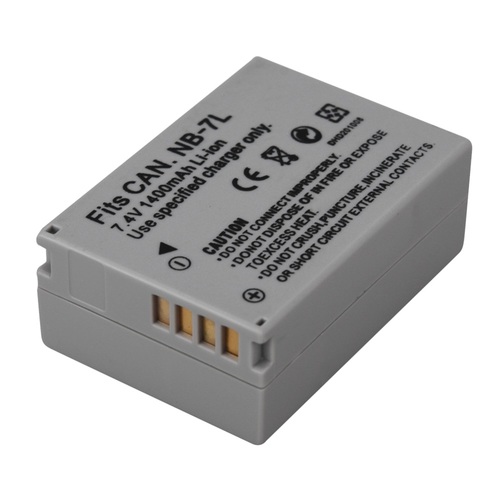 1 Uds 1400mah NB-7L NB7L NB 7L batería para Canon PowerShot G10 G11 G12 SX30 SX30IS baterías de la cámara
