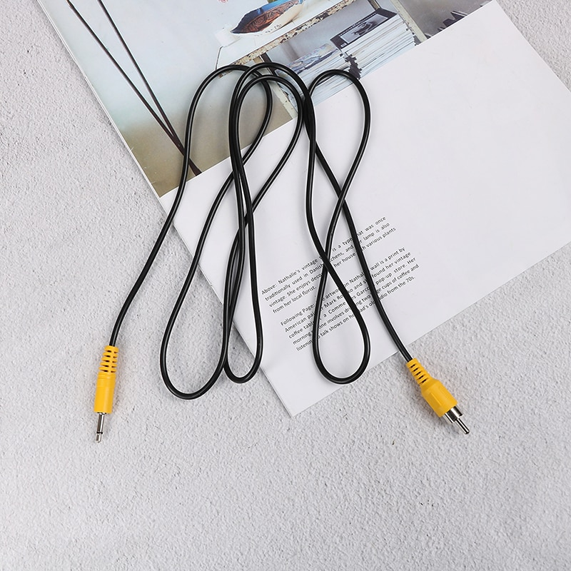 "1pc 1.5M 3.5mm 1/8"" Mono Male Plug To Single RCA Male Audio Video Cable Adapter Cord"