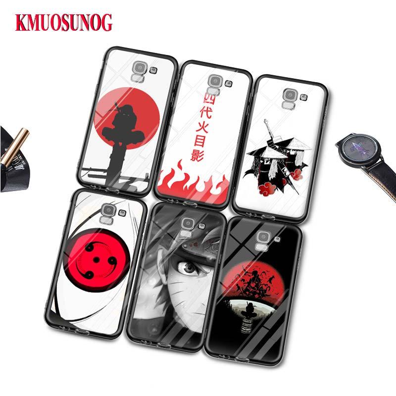 Negro funda de silicona Hokage Naruto Kakashi para Samsung Galaxy j8 j7 j6 j5 j4 j3 Plus primer 2018 de 2017 de 2016 cubierta de la bolsa del teléfono