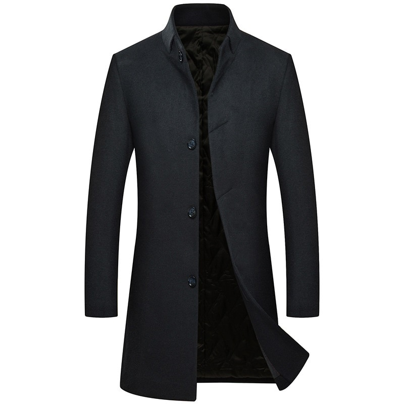 Manteau laine hiver Trench homme pour homme laine épaisse chaude Abrigo Hombre pardessus x-long manteau hommes Trench Casaco Masculino 3XL