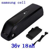 36V Battery 36V 250W 350W 500W Electric Bike Battery 36V 18AH Lithium Battery 36V 10AH 14AH 18AH Ebike Battery use samsung cell