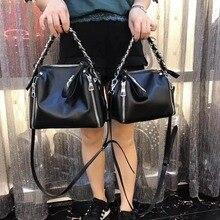 Kafunila fashion chain genuine leather women shoulder bag small size female messenger bag designer brand famous tote handbag