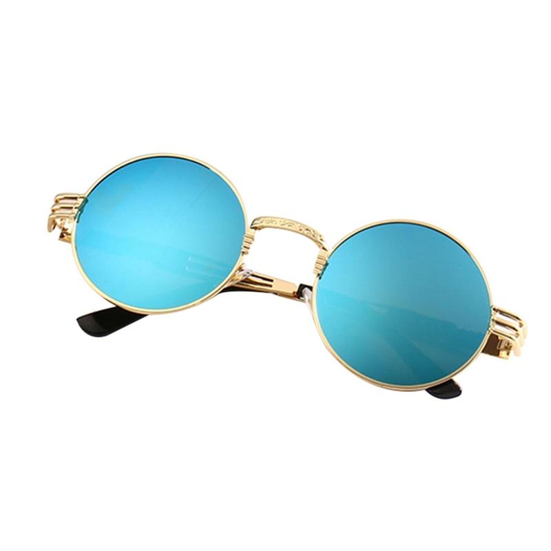New Classic Steam Punk Sunglasses European And American Round Reflector Glasses Men And Women Sun Glasses
