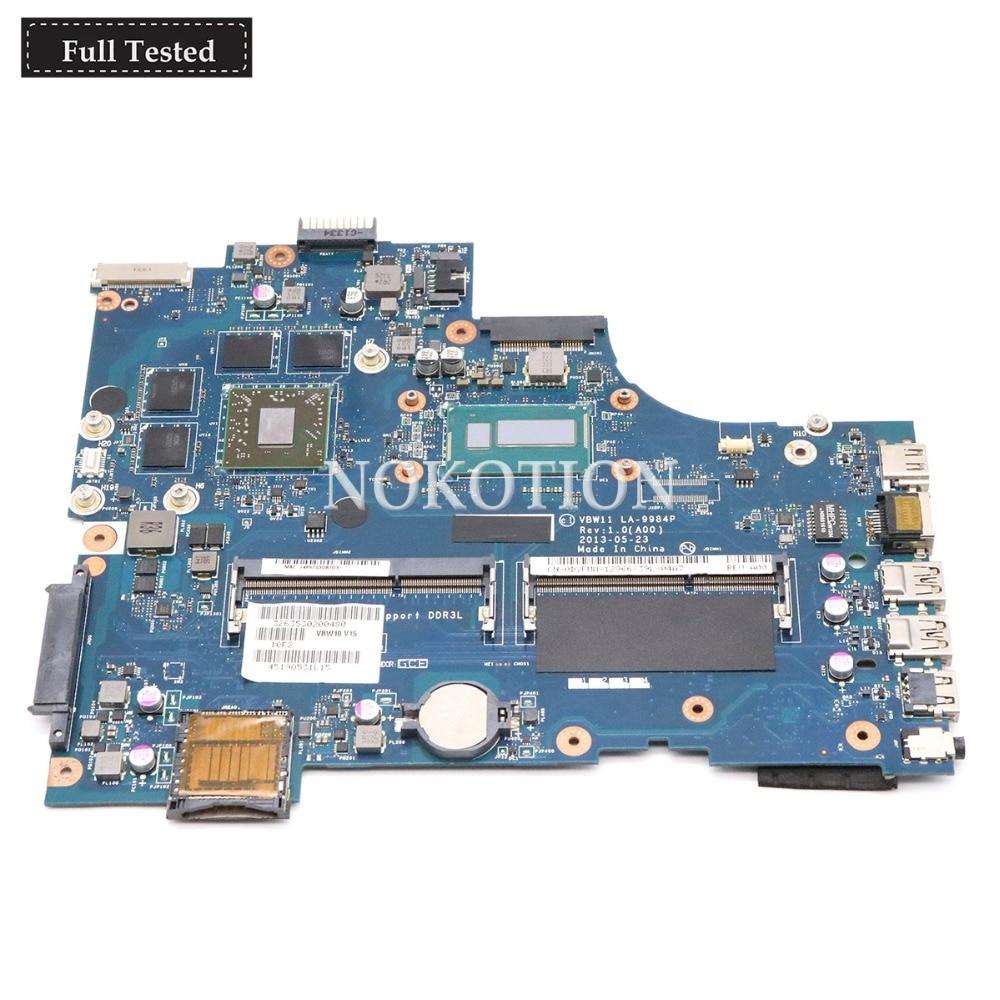NOKOTION CN-091M09 091M09 17R Principal Board Para Dell inspiron 5737 Laptop Motherboard LA-9984P i5-4200U DDR3L Radeon HD8870M CPU