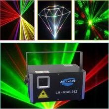 Ilda analoge laser 2000mW rgb laser beam & animatie programmeerbare full color effect sky laserlicht
