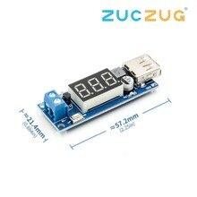 Dc Dc Step Down Converter Led Display Voltmeter + 5 V Usb Charger Power Supply Module Board Step-Down buck Poort 6.5-40V Naar 5 V 2A