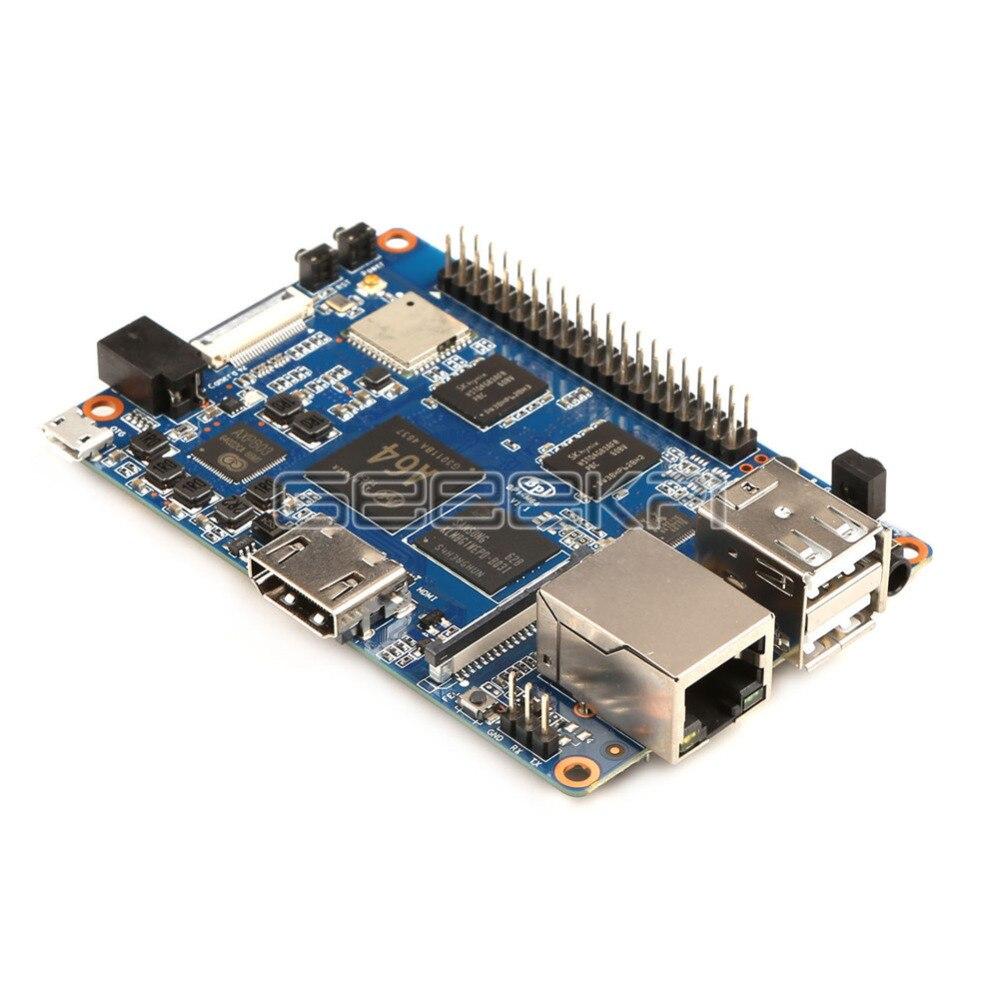 Original Banana Pi M64 BPI-M64 A64 64-Bit Quad-Core 2GB de RAM con WiFi Bluetooth 8GB eMMC demo de placa única y 1 Uds 3dB antena