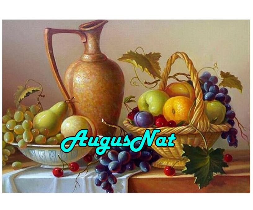 Cestas para frutas, pintura de diamantes, Decoración de cocina, bordado completo, mosaico, pintura de rompecabezas, pintura por números