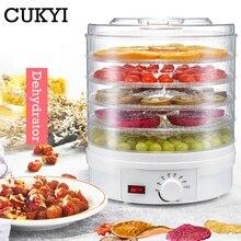 CUKYI déshydrateur alimentaire fruits légumes herbe viande Machine de séchage collations séchoir alimentaire avec 5 plateaux ue/UK/US Plug 110V/220V
