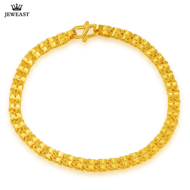 ZSFH 24K Pure Gold Bracelet Real 999 Solid Gold Bangle Fashion Double Row Glossy Trendy Classic Fine Jewelry Hot Sell New 2020