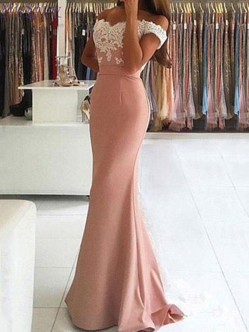 Женское сатиновое вечернее платье Robe De Soiree, кружевное платье с открытыми плечами и открытой спинкой на заказ