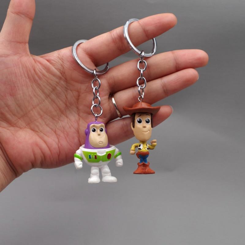 Big Salse Movie Toy Story4 Figure Forky Plush Toys Woody Jessie Buzz Lightyear Aliens Lotso Keychain Toys Kids Adult Funs Gifts