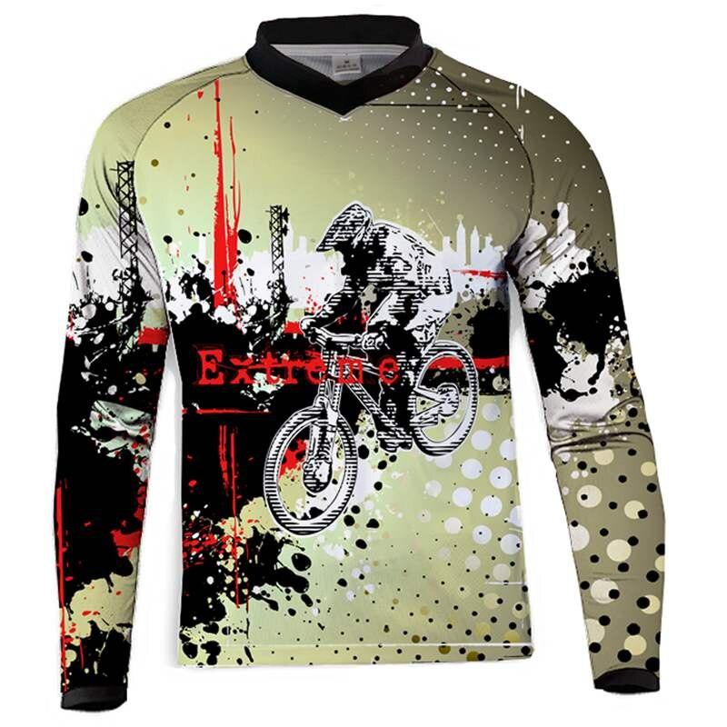 2018 camiseta de motocross downhill camiseta ropa mtb manga larga camiseta para...
