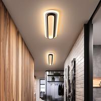 Потолочный светильник Современные светодиодные потолочные лампы для гостиной, спальни, кабинета, коридора, белый и черный цвета, поверхнос...