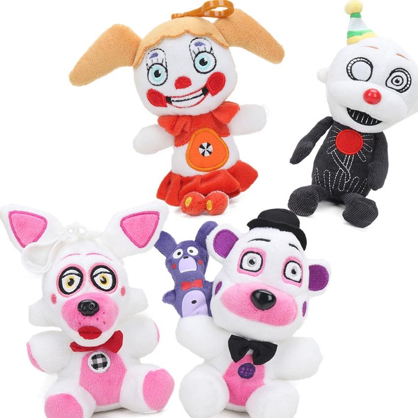 Pack of 4 Funtime 15cm Sister Location Freddy Fazbear Ennard Circus Baby Plush Toys Five Nights At Freddy's Dolls FNAF Plushies