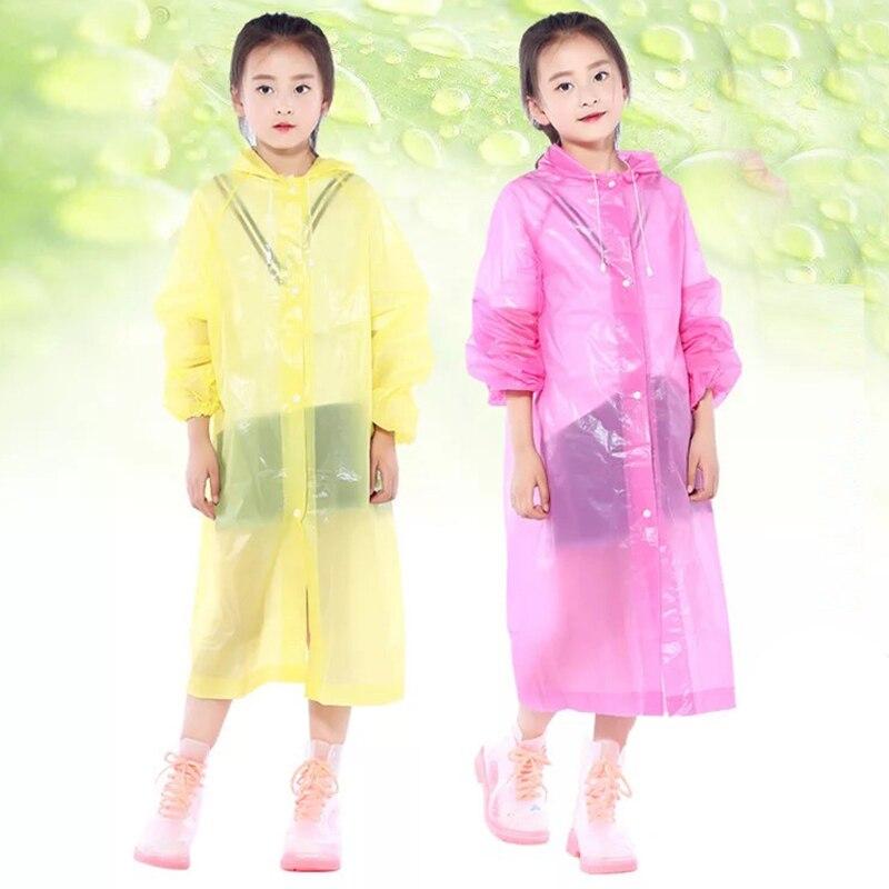 Capa de chuva para crianças capa de poncho de chuva meninas meninos capa de chuva à prova dwaterproof água capas descartáveis transparentes impermeáveis crianças casaco