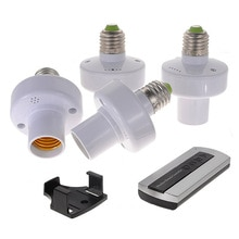 4Pcs E27 Schraube Drahtlose Fernbedienung Licht Lampe Basis Led-lampe Halter Kappe Sockel Schalter GDeals