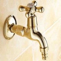 gold color brass extra long laundry bathroom wall mounted mop water tap garden washing machine copper faucet aav121
