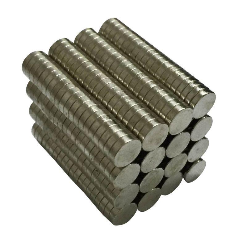 10 - 100 piezas de 8mm x 2mm raras tierra de NdFeB imán de neodimio de N50 disco cilindro redondo imanes de nevera de buey