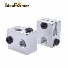 2 pièces imprimante 3D Aluminium bloc chauffant V6 j-head RepRap MK7 ou MK8 kossel et prusa i3 extrudeuse