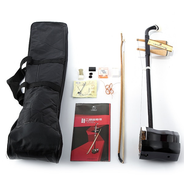 Chinese Erhu Two Strings Violin Fiddle Round Pole Hexagonal Shape With Case or Bag/Bow/Rosin/Tuner/Bridge Musical Instrument 1 8 kids children natural acoustic violin fiddle with case bow rosin musical instrument gifts