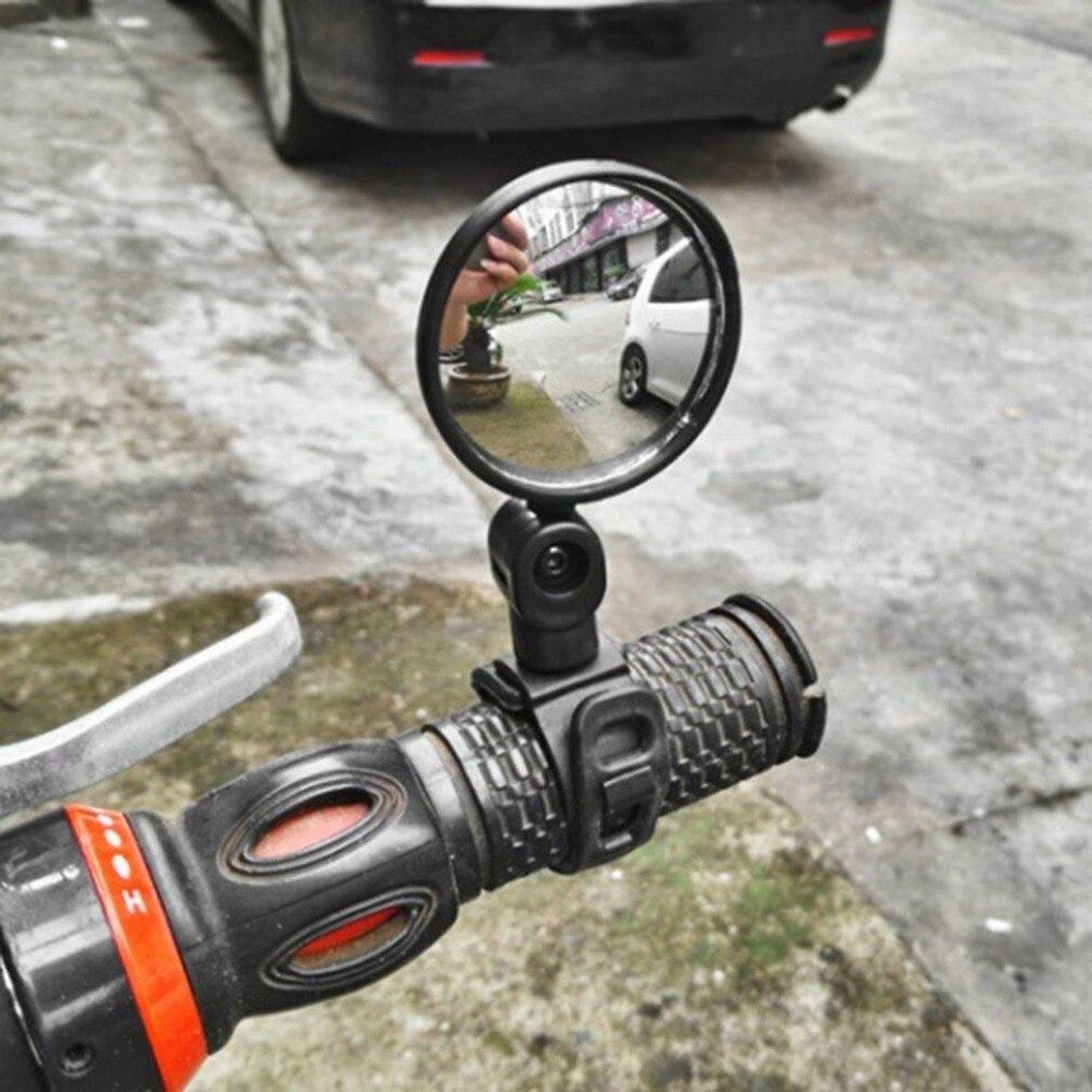 Espejo retrovisor para manillar de bicicleta, con rotación de 360 grados, Flexible, gran angular, espejo convexo seguro para ciclismo