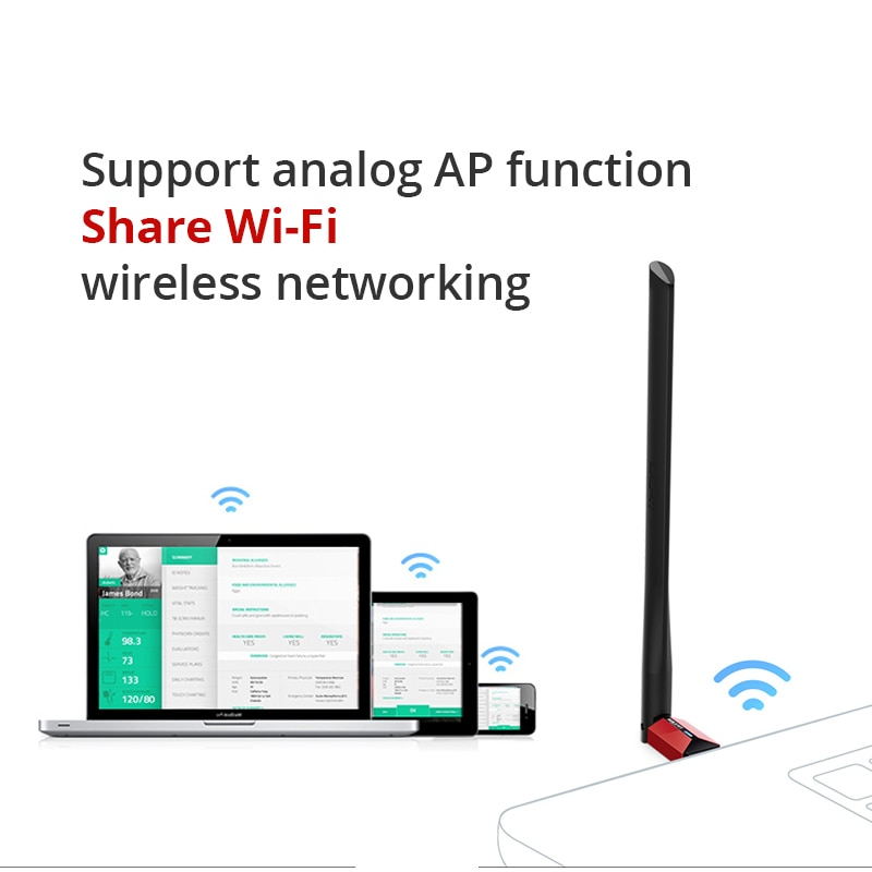 TP-Link TL-WN726N Wireless Wifi USB Adapter 150Mbps High-gain Wireless Network Card, USB 2.0 Drive-free Card, Support Analog AP enlarge