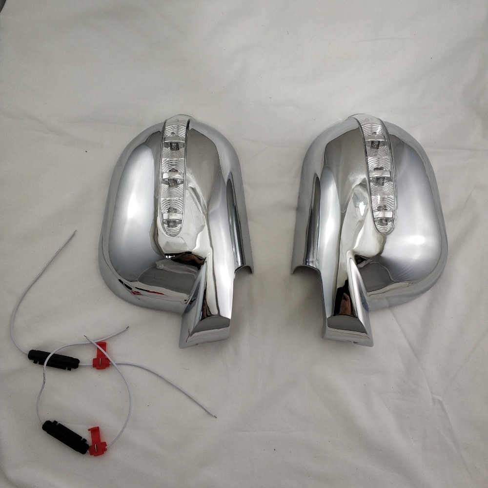 For Mercedes-Benz M-Class W163 ML 1997-2005 2PCS ABS Chrome plateddoor Rearview door mirror covers with Led Car accessories