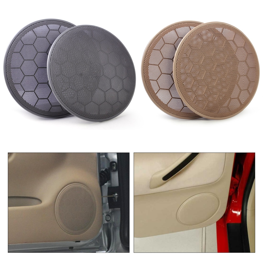 Beler 2 uds tapa de altavoz de puerta parrilla 3B0868149 para VW Beetle Passat B5 Jetta MK4 Golf GTI 1999-2001 2002 2003 2004 2005