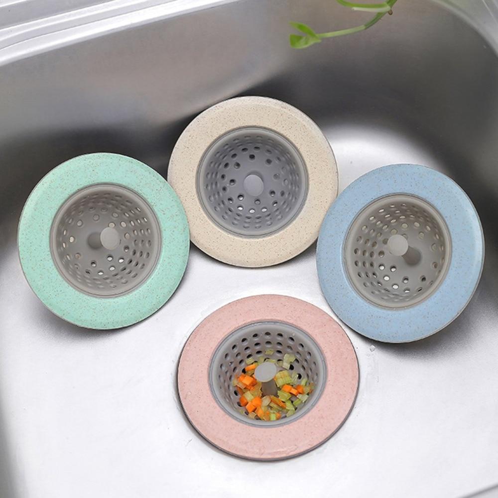 Силиконовое сито для слива в ванной комнате, 4 цвета