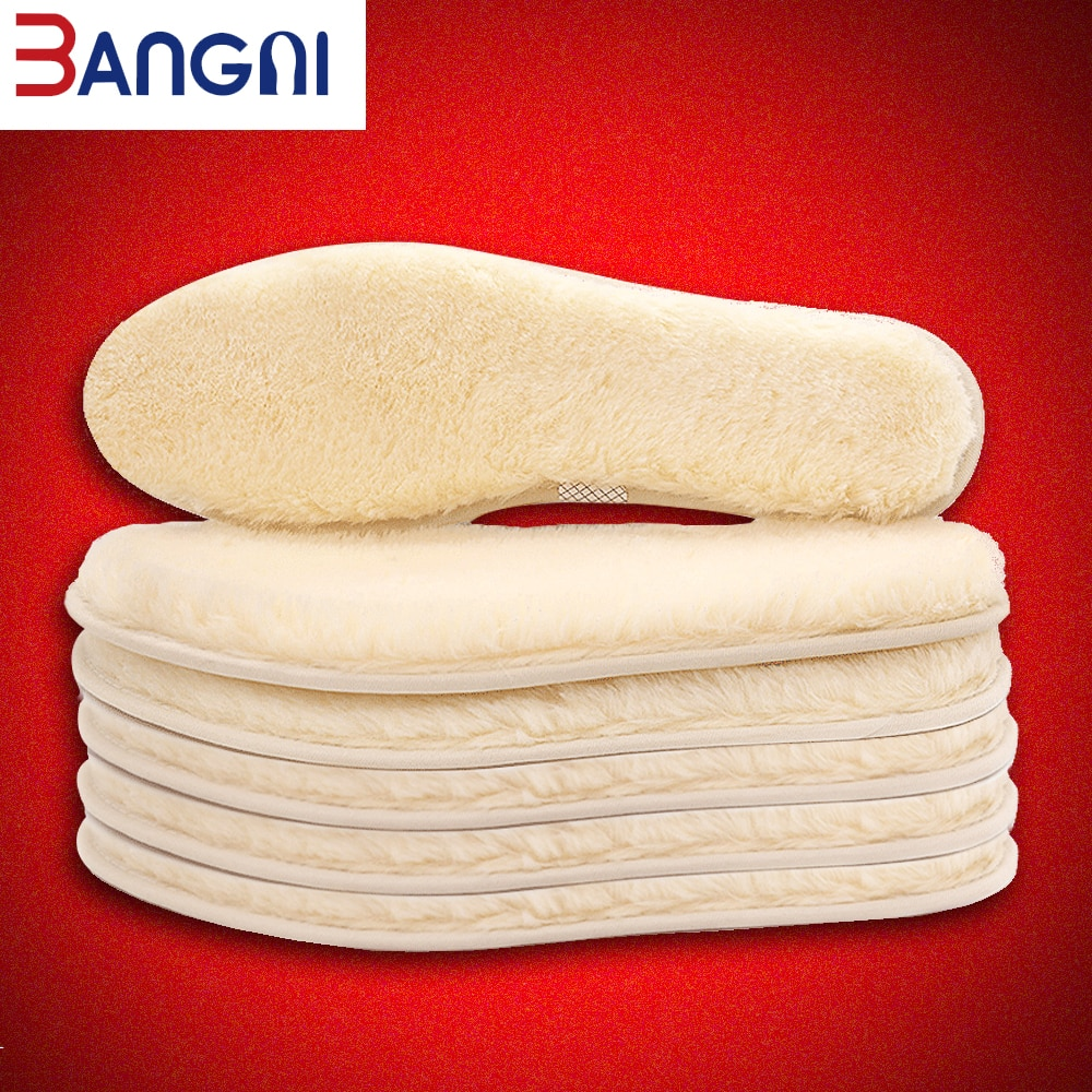 3ANGNI Original Thermal insoles Imitation Wool Felt Sheep Fur Warm Heated Winter shoe Insoles For Women Man Boots Insert