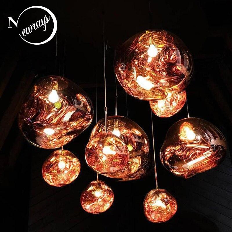 Criativo moderno loft europa luz pingente de vidro led e27 com 3 cores para o quarto/restaurante/sala estar/sala de jantar/café/hotel