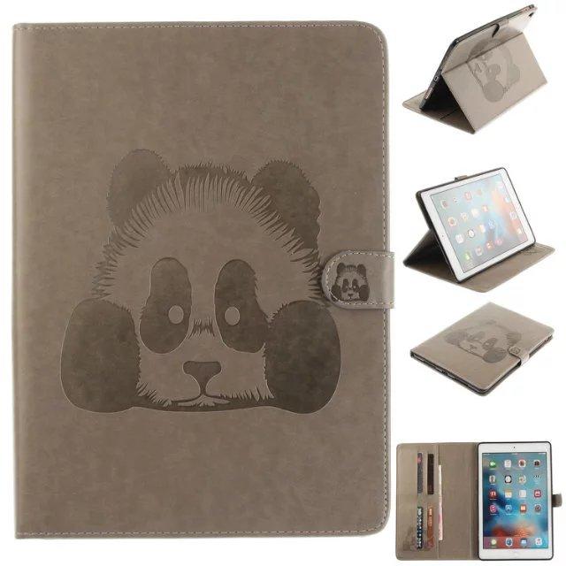 TX oso pintado plegable de Panda de cuero de la PU para Samsung Galaxy Tab A 9,7 SM T550 T555C T555 la cartera llena de protección de la cubierta