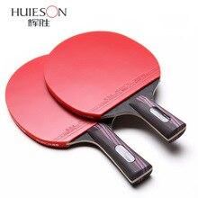 Raquette de ping-pong de batte de carbone de picots de Double Face de 5 étoiles avec la palette de ping-pong en caoutchouc