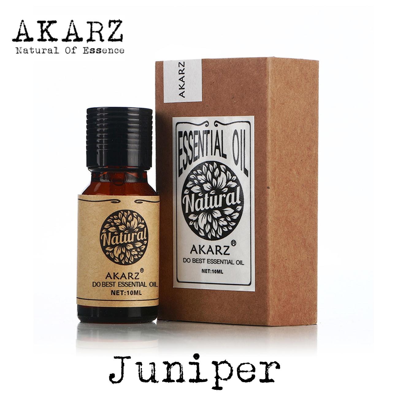 Juniper essential oil AKARZ brand natural Oiliness Cosmetics Candle Soap Scents Making DIY odorant raw material Juniper oil