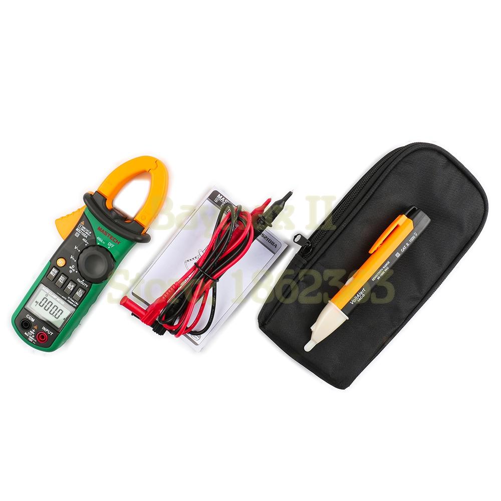 MASTECH MS2108A الرقمية المشبك متر المتعدد AC/DC الحالي جهاز قياس الجهد الكهربائي مع 90 ~ 1000 فولت AC Voltgae اختبار