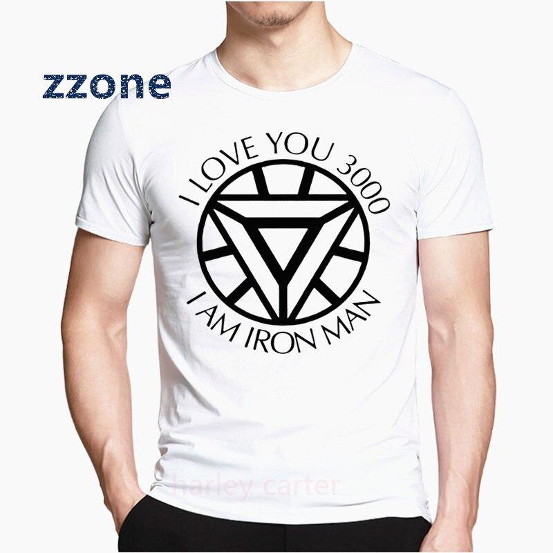 I Love You 3000 veces camiseta Iron Man Love U 3 mil veces camiseta vengadores 4 Endgame Iron Man mujeres hombres Top HCP4574