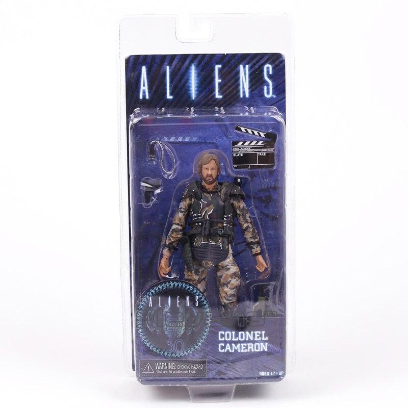AVP Aliens vs depredador serie Alien 2 Pacto Coronel Cameron PVC figura de acción de colección modelo de juguete 18cm